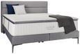 Kontinentalbett Grau 160x200cm - Schwarz/Grau, Holz/Holzwerkstoff (160/200cm) - Premium Living