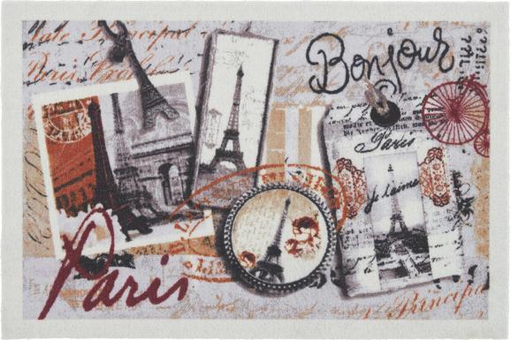 Fußmatte Bonjour in Bunt, ca. 40x60cm - Textil (40/60cm) - MÖMAX modern living