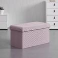 SITZBOX in rosa 'Annelie' - Rosa, MODERN, Textil (38/40/76cm) - Bessagi Home