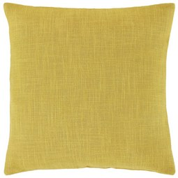 Kissenhülle Leinenoptik in Messinggelb - Gelb, Textil (60cm) - Mömax modern living