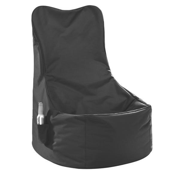 Sitzsack in Schwarz aus Nylon - Schwarz, Textil (65/100/88cm) - Mömax modern living