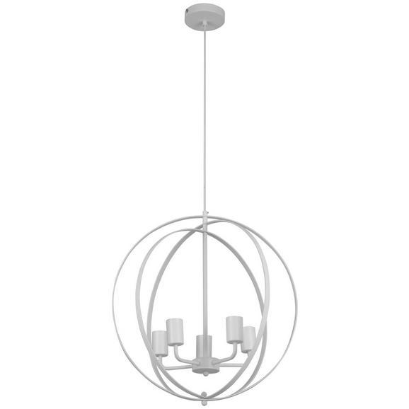 Hängeleuchte Saraya max. 60 Watt - Weiß, ROMANTIK / LANDHAUS, Metall (49/175,5cm) - Modern Living