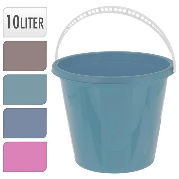 Eimer Liv verschiedene Farben - Taupe/Blau, KONVENTIONELL, Kunststoff (10l)