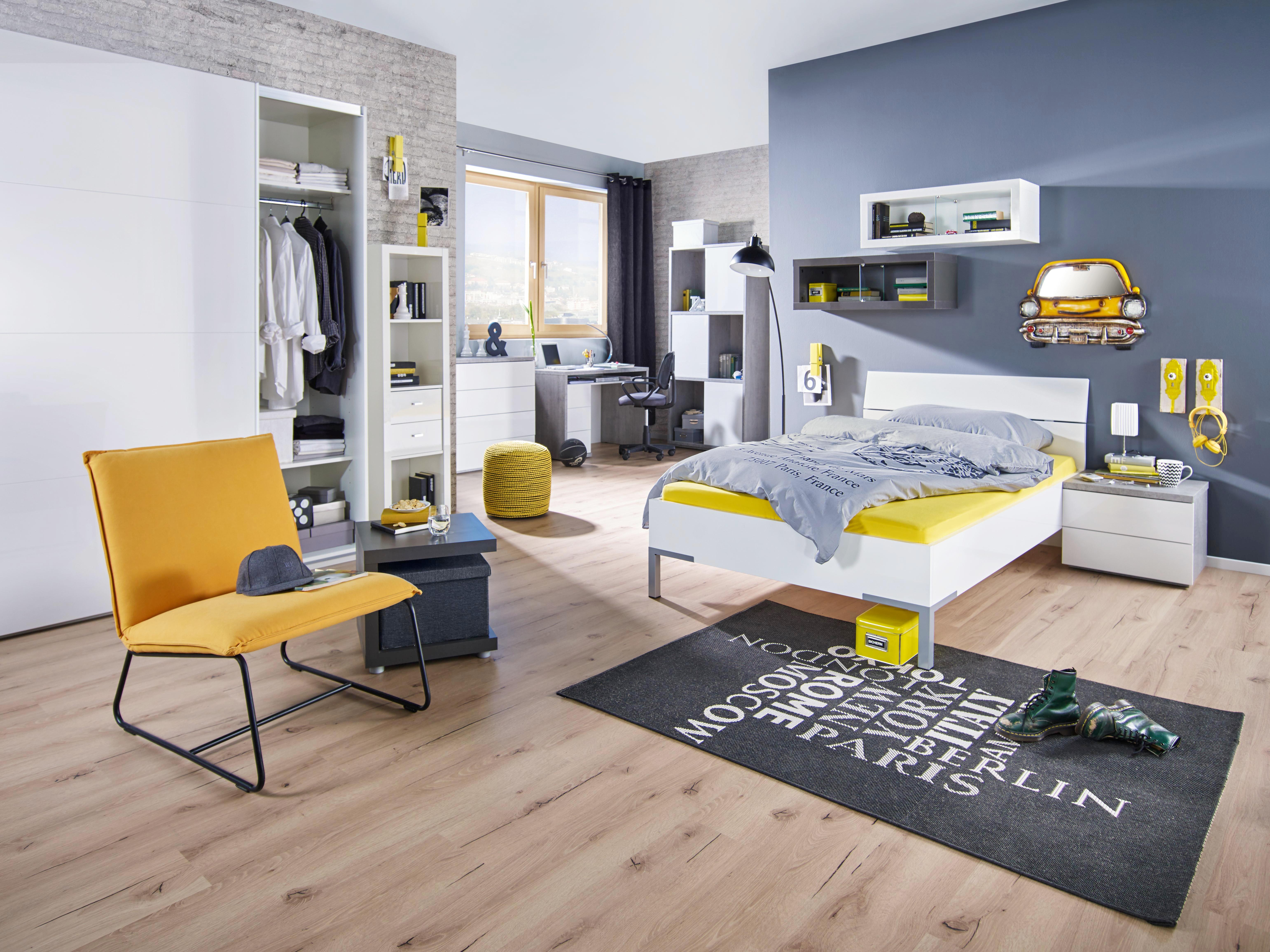 Kinder-/Juniorbett in Weiß ca. 140x200cm - (146/86,5/211,8cm) - MODERN LIVING