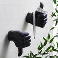 Wanddeko Manuel Schwarz - Schwarz, MODERN, Kunststoff (14,5/16/8cm) - Modern Living