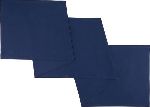 Asztali Futó Steffi - Sötétkék, Textil (45/240cm) - Mömax modern living