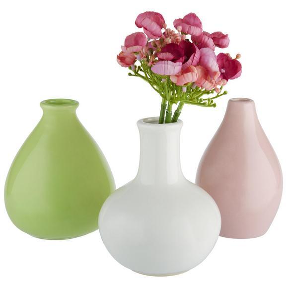Vase Amelie verschiedene Modelle - Rosa/Weiß, Keramik (10/16cm) - Mömax modern living