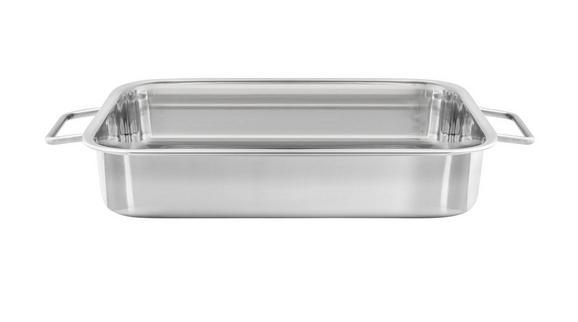 Auflaufform Sebi - Edelstahlfarben, Metall (32,7/23,5/6cm) - Mömax modern living