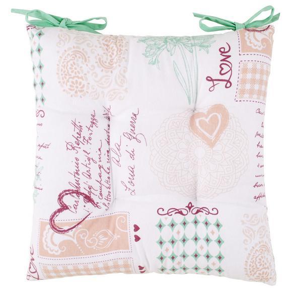 Ülőpárna Romance - Bordó/Zöld, romantikus/Landhaus, Textil (40/40cm) - Modern Living