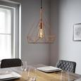 Hängeleuchte max. 40 Watt 'Yvonne' - Goldfarben, MODERN, Kunststoff/Metall (36/150cm) - Bessagi Home