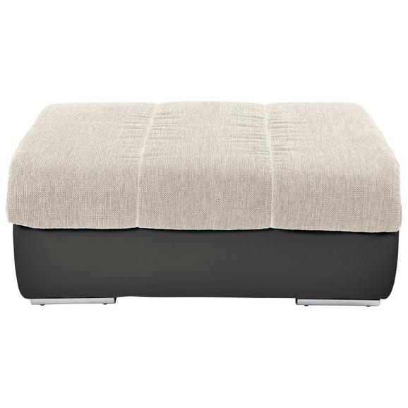 Lounge Tabure Multi - tamno siva/bež, Modern, tekstil/metal (100/43/80cm) - Modern Living