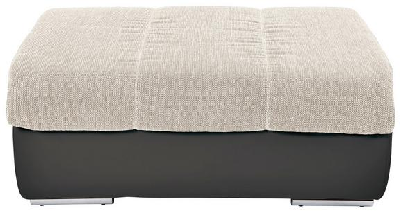 Tabure Multi - tamno siva/bež, Modern, tekstil/metal (100/43/80cm)