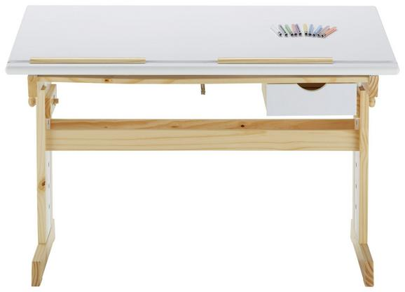 Schreibtisch holz natur  Schreibtisch Weiß/Natur online kaufen ➤ mömax