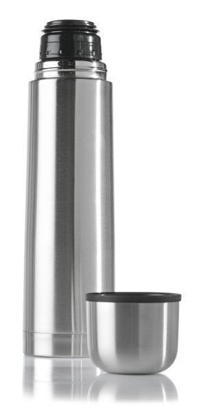 Isolierflasche Silber - Silberfarben, Metall - Mömax modern living