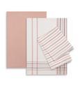 Geschirrtuch-Set Erika 3-teilig - Rosa/Weiß, Textil (50/70cm) - Mömax modern living
