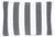 Zierkissen Blockstreif Dunkelgrau 40x60cm - Dunkelblau/Weiß, Textil (40/60cm) - MÖMAX modern living