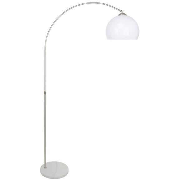 Lampadar Raman - culoare nichel/alb, Modern, plastic/metal (30/141-196cm) - Modern Living