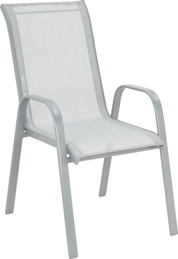 Stapelsessel Hellgrau - Hellgrau/Alufarben, Kunststoff/Textil (54/96/76cm) - Mömax modern living