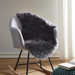 Kunstfell Romy - Dunkelgrau, MODERN, Textil (60/95cm) - Mömax modern living