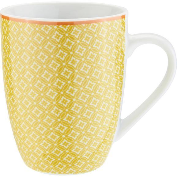 Lonček Za Kavo Sahara - rumena/bela, Trendi, keramika (8/10,3cm) - Mömax modern living