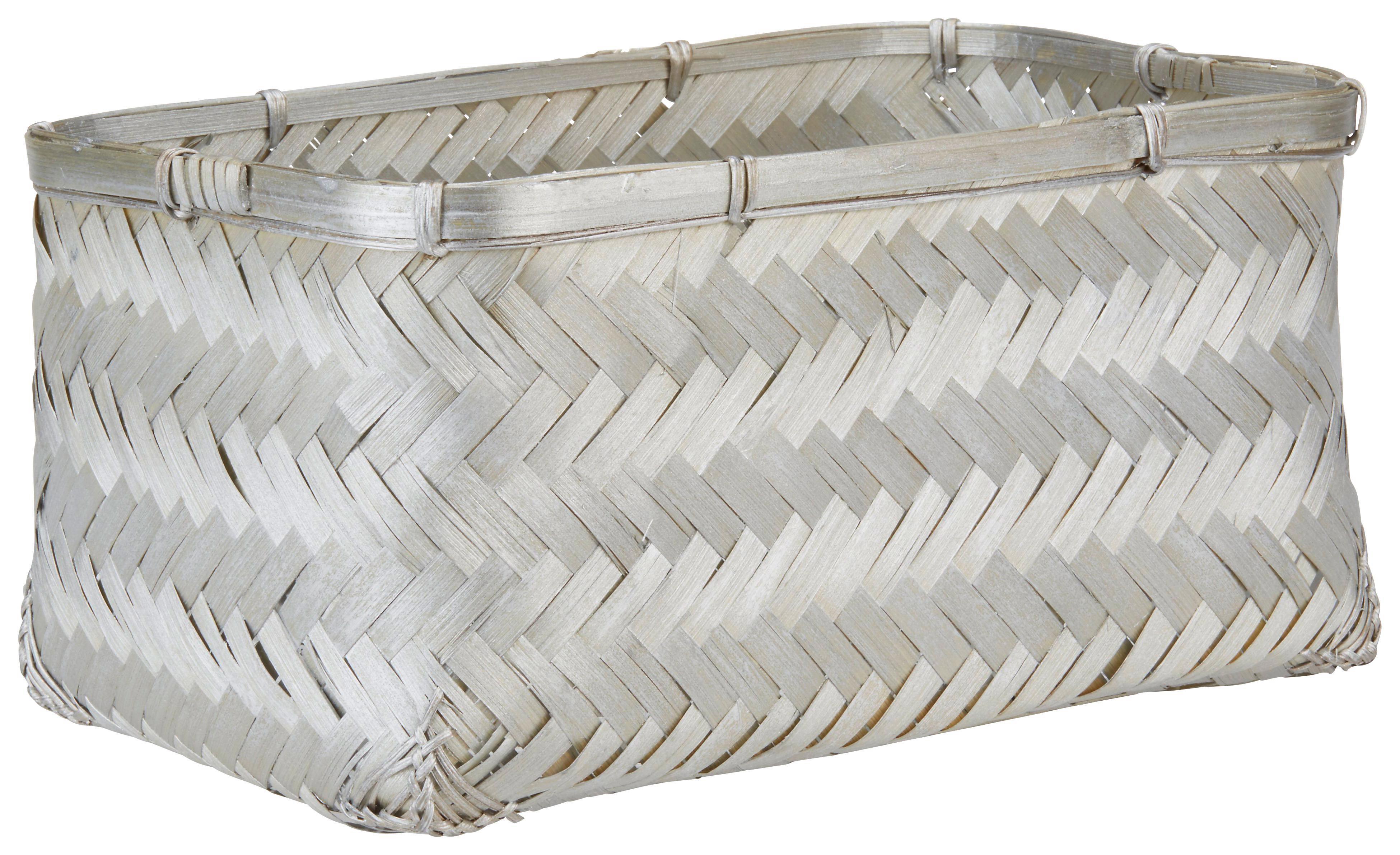 Korb Petra in Silberfarben - Silberfarben, Weitere Naturmaterialien (35/24/17cm) - MÖMAX modern living