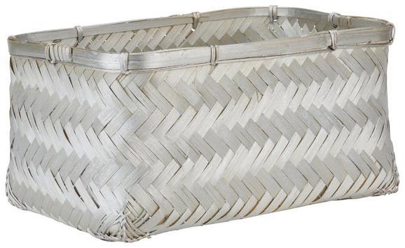 Korb Petra in Silberfarben - Silberfarben, Weitere Naturmaterialien (30/20/15cm) - MÖMAX modern living