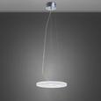 Led Hängeleuchte Pablo - Chromfarben/Weiß, MODERN, Glas/Metall (40/40/120cm) - Premium Living