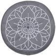 Pernă Pentru Podea Lata Yoga - petrol/galben, textil (40cm) - Modern Living