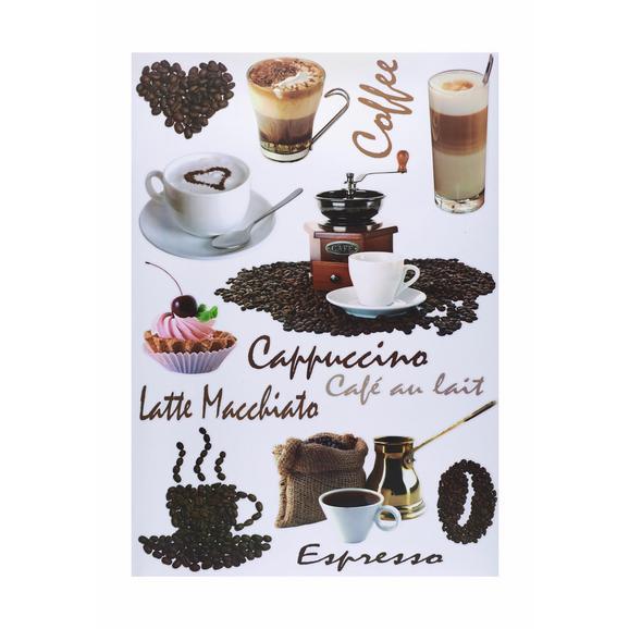 Dekosticker Kaffee Braun - Braun, Kunststoff (50/70cm) - Mömax modern living