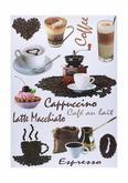 Dekosticker Kaffee in Braun - Braun, Kunststoff (50/70cm) - Mömax modern living