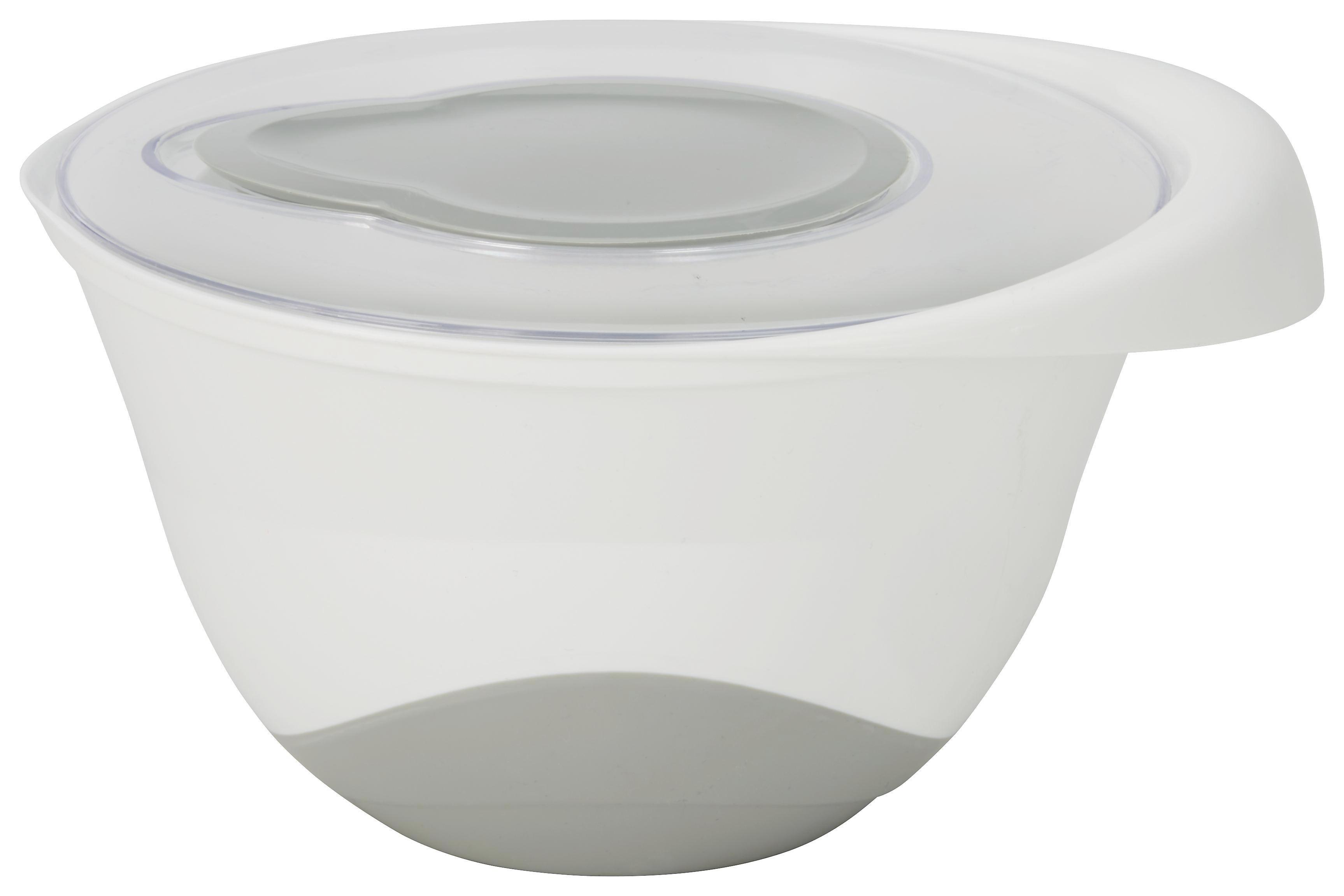 Rührschüssel Rory in Weiß/Grau - Weiß/Grau, Kunststoff (23,5/13cm) - MÖMAX modern living
