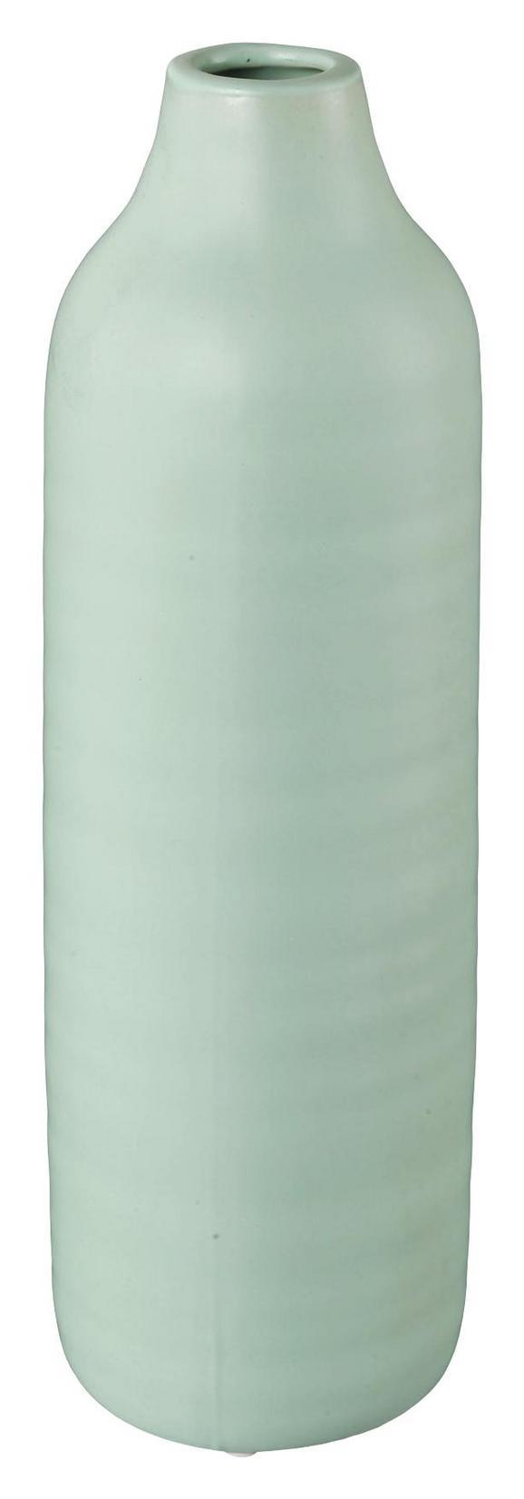 Dekovase Presence Grün 10x30 cm - Grün, LIFESTYLE, Keramik (10/30cm)