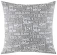 Zierkissen Friends Grau 45x45cm - Grau, LIFESTYLE, Textil (45/45cm) - Mömax modern living