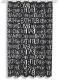 Duschvorhang Buchstaben Grau/Weiß 180x200cm - Schwarz/Weiß, LIFESTYLE, Textil (180/200cm) - Mömax modern living