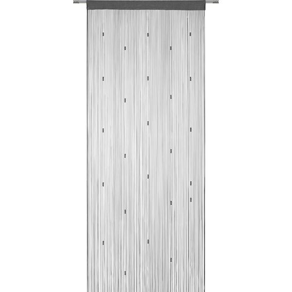 Fadenstore Perle verschiedene Farben - Anthrazit/Rosa, ROMANTIK / LANDHAUS, Textil (90/245cm) - Mömax modern living