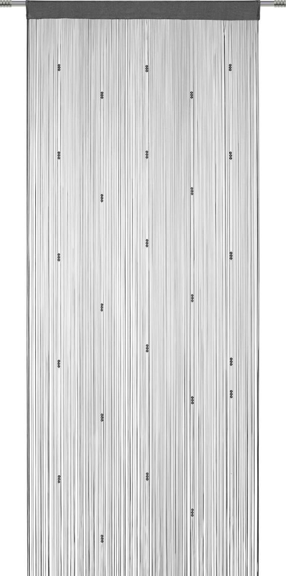 Zsinórfüggöny Perle - Rózsaszín/Olajkék, romantikus/Landhaus, Textil (90/245cm) - Mömax modern living