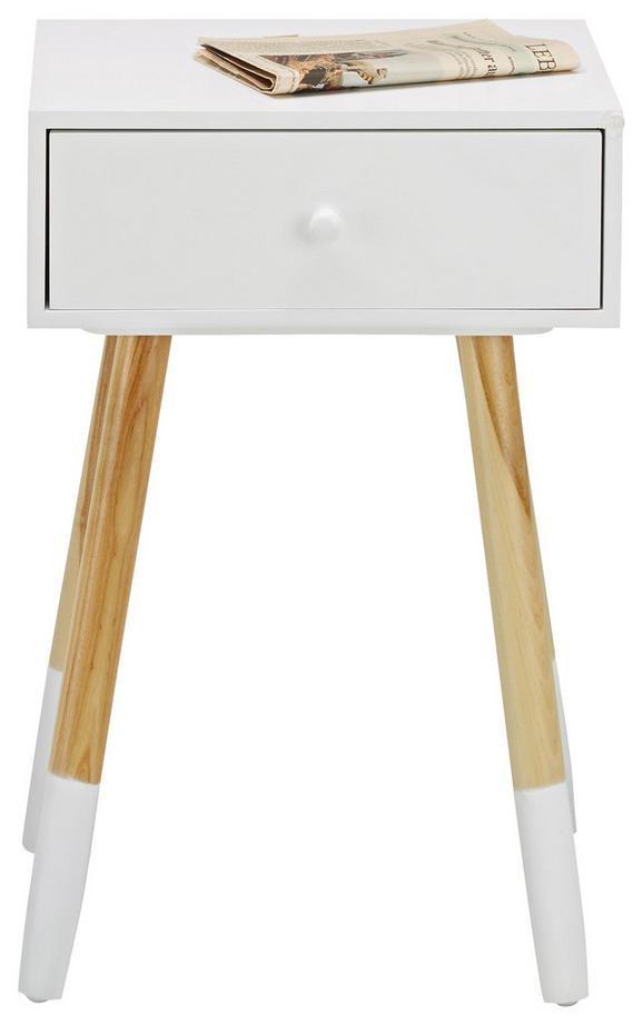Beistelltisch Weiß/birkefarben - Birkefarben/Weiß, MODERN, Holz/Holzwerkstoff (40/61/30cm) - Mömax modern living