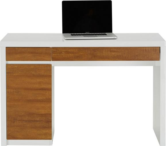 Schreibtisch in Weiß/holzoptik - Weiß, MODERN, Holzwerkstoff (120/78/50cm) - MÖMAX modern living