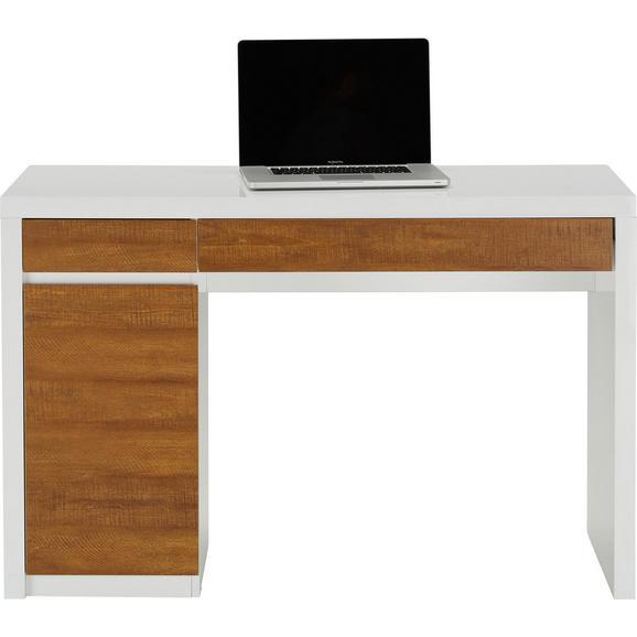 Schreibtisch in wei holzoptik online kaufen m max for Schreibtisch holzoptik