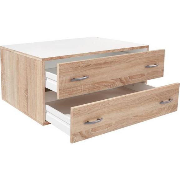 Schubladenbox Eiche 80x33x52cm - Eichefarben, KONVENTIONELL, Holzwerkstoff (80/33/52cm) - Modern Living