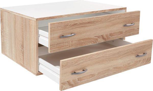Schubladenbox Wels in Eiche, ca. 80x33x52cm - Eichefarben, KONVENTIONELL, Holzwerkstoff (80/33/52cm) - MODERN LIVING