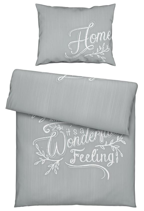 Bettwäsche Home Letters Grau ca.140x200cm - Hellgrau, KONVENTIONELL, Textil (140/200cm) - Mömax modern living