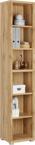 Regal Weiß/Eichefarben - Eichefarben/Erlefarben, MODERN, Holzwerkstoff (44/218/36cm) - Mömax modern living