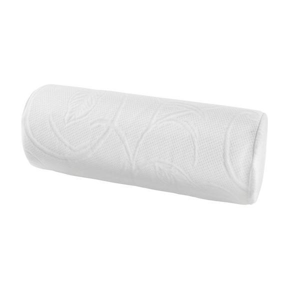 Pernă Cilindrică Cervicală Visco - alb, textil (15/40cm) - Nadana