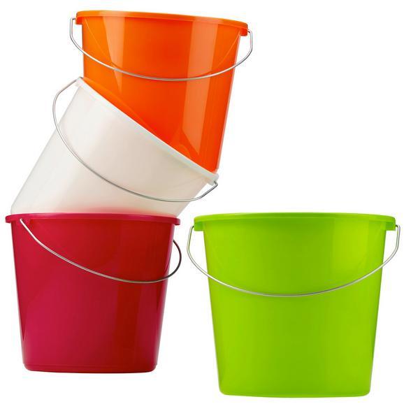 Eimer Rosi in versch. Farben ca. 10l - Pink/Orange, Kunststoff/Metall (10l) - Mömax modern living