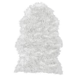 Kunstfell Melissa Weiß 60x90cm - Weiß, ROMANTIK / LANDHAUS, Kunststoff (60/90cm) - Based