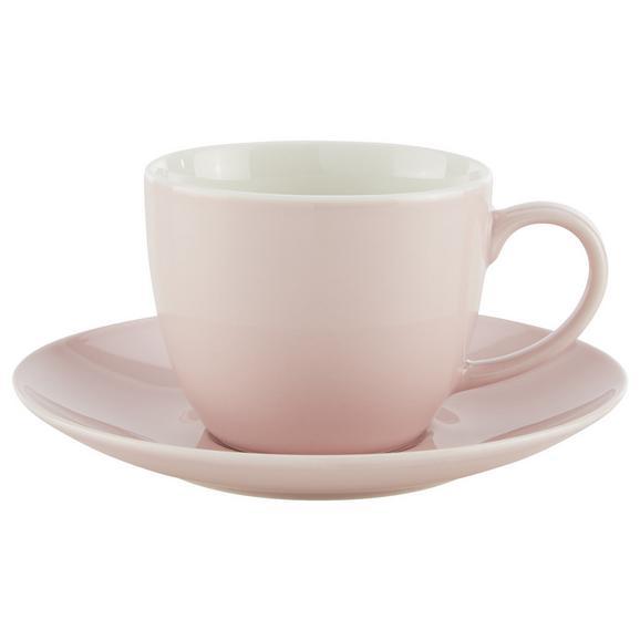 Ceașcă De Cafea Cu Farfurioară Sandy - roz, Konventionell, ceramică (5/6,9cm) - Modern Living