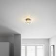 Deckenleuchte Gabriella - Nickelfarben, MODERN, Glas/Metall (17/9cm) - Bessagi Home