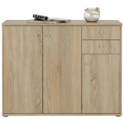 Sideboard in Sonoma Eiche - Alufarben/Grau, MODERN, Holzwerkstoff/Kunststoff (106,2/86/34cm)