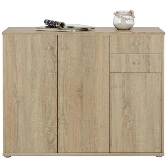 Sideboard In Sonoma Eiche Alufarben Grau Modern Holzwerkstoff Kunststoff 106